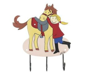 Mila mein Pony - Pferdeliebe - Mila 3er Haken - Mädchen Pferd Garderobe - Wandhaken