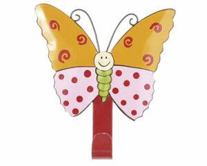 Mila Lovely Butterflies - Mila 1er Haken - Schmetterling Garderobe - Wandhaken 13039