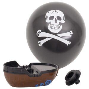 Luftballonboot Pirat - wertvolles Spielzeug Piratenboot mit Totenkopf Luftballon