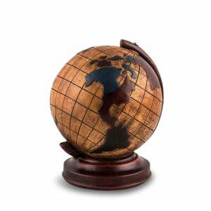Spardose Weltkugel - Goldener Globus Sparbüchse - Reisekasse - Urlaubskasse