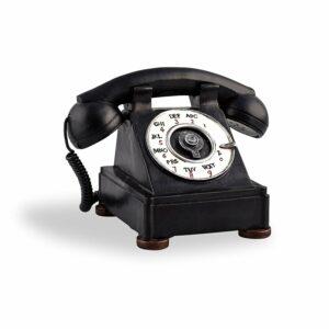 Nostalgie Spardose Telefon - Deko Telefonapparat in Antik Look aus Polyresin