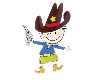 Mila Magnet Western Serie - Metallmagnete Cowboy, Pferd und Kaktus mit Geier Kühlschrankmagnet
