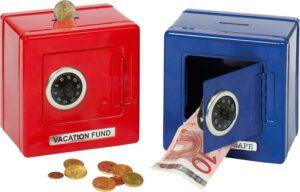 Spardose Metall Tresor Sparschwein Sparbüchse Banksafe mit Schloß