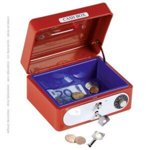 Geldkassette mit Kombinationsschloss - Spardose Metall Tresor