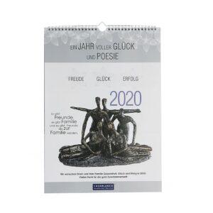 """DIN A3 Poesie Wandkalender 2017 - Kalender Skulpturen """" Ein Jahr voller Glück und Poesie"""""""