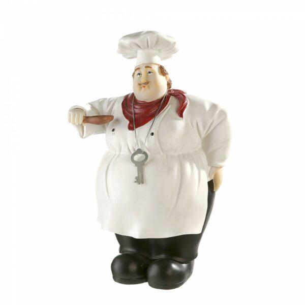 Figur Chefkoch - Dekofigur Luigi der Koch - Geschenkidee für Hobbyköche