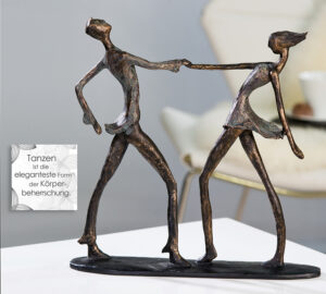Tanz Skulptur Jive - Tanzendes Paar Dekoobjekt