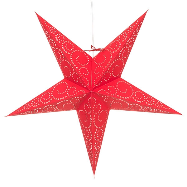 stern tabit leuchtstern rot papier 60 cm komplett mit. Black Bedroom Furniture Sets. Home Design Ideas