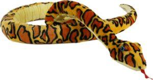 Kuscheltier Schlange 254 cm, gelb-orange - XXL Stofftier Plüschtier Reptilien