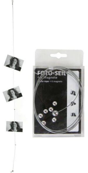 Foto-Seil mit Magneten aus Metall