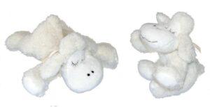 Kuscheltier Schaf, weiß, 25 cm - Plüschtier Lamm Schmusetier
