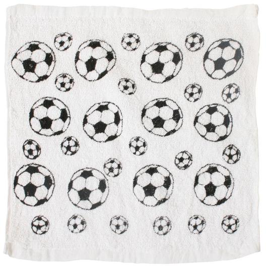 Magisches Handtuch Fußball - Zauberhandtuch Baumwolle 30x30cm