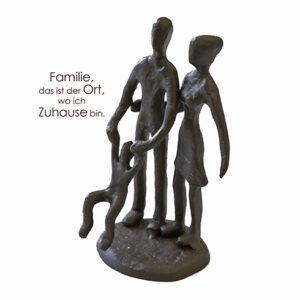 Familie Mini Skulptur aus Eisen