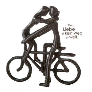 Paar auf Fahrrad Mini Skulptur