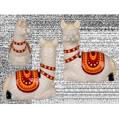 Spardose Lama Alpaka Sparbüchse Keramik - Dekoration Geldgeschenk