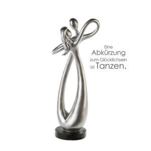 Dance Skulptur Tanz - Poly Figuren Liebespaar - Tanzpaar auf schwarzer Basis