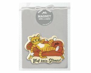 Mila Magnet Oommh Bloß kein Stress - Katze auf Sofa 18008