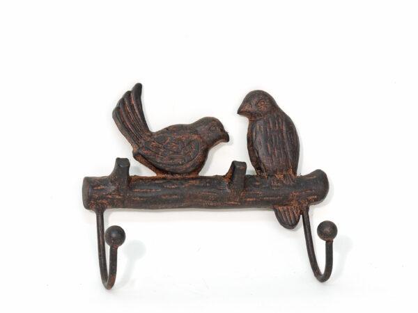Gusseisen Garderobe Vogelpaar - Kleiderhaken Wandhaken Vögel - Haken antik Stil Eisen