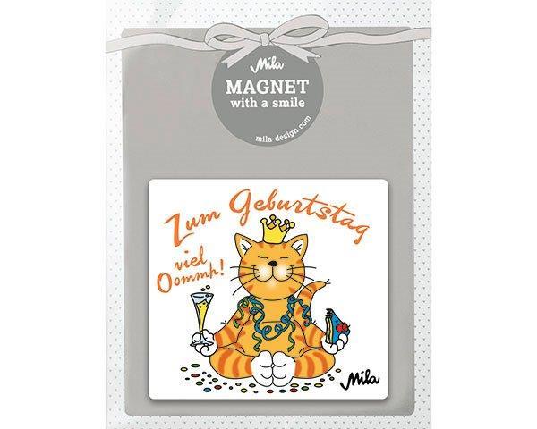 Mila Yoga Katze Zum Geburtstag Viel Oommmh Magnet Traumflug