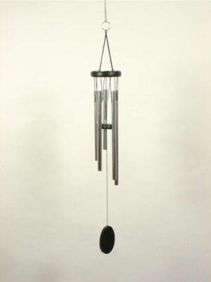 Klangspiel mit 5 Klangröhren - schwarz-silber - Länge 72 cm