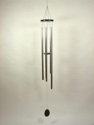 XXL Klangspiel mit 5 Klangröhren - schwarz-silber - Länge 160 cm