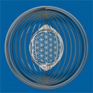 Spirale Lebensblume - Blume des Lebens 153 mm Edelstahl