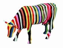 CowParade Large Striped große Kuh
