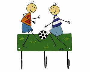 Mila Fussballspieler - Mila 3er Haken - Garderobe - Wandhaken