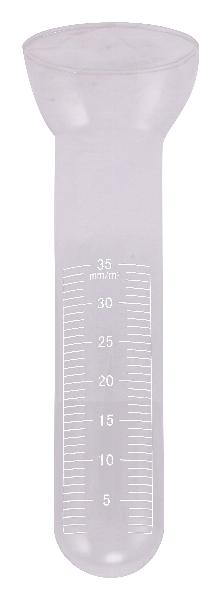 Ersatzglas für Regenmesser - klar - Skala weiß - verbesserte Qualität! Durchmesser 4,8 cm