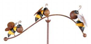 Windspiel Biene - Bienen Balancer Gartenstab - Dekoration Imker