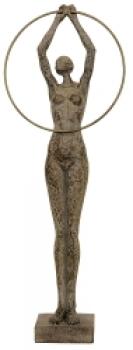 FrauenSkulptur Hilda - gestreckte Frau mit Ring