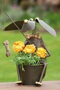 Blumentopfhalter Hund Hajo Metall
