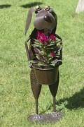 Blumentopfhalter Hund Hajo Metallübertopf