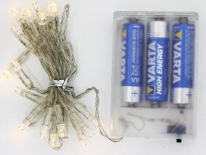 20er LED Lichterkette – Zubehör für Papier Stern, Leuchtstern oder Lichtdekoration zum basteln..
