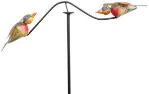 Windspiel Vogel Corso - Balancer - Vogelwippe - Gartenpendel wildes Vogelpärchen