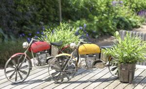 Blumentopfhalter Motorrad - Garten Deko mit Pflanztopf