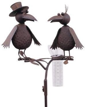 Regenmesser Raben Vogelhochzeit Niederschlagsmesser