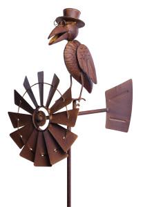 Windrad mit Windrichtungsanzeiger Windrad Rabe Windspiel 2154_0.jpg