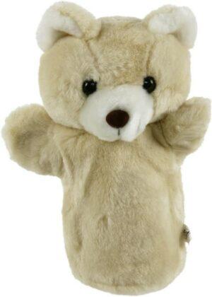 Handpuppe Bär beige 23 cm - Teddybär - Plüschtier Schmusebär