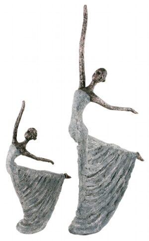 Frauen Skulptur Hilda - tanzende Frau in Bronzeoptik - Tänzerin elegant