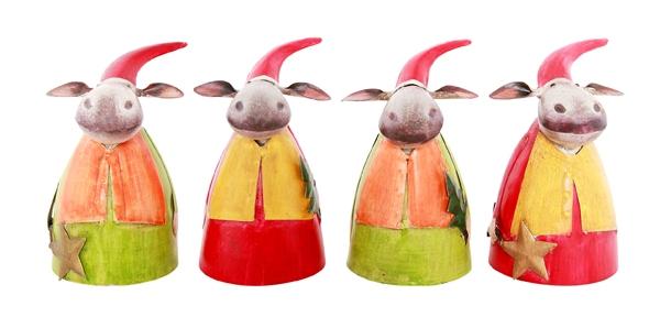 Keramik Elch Gartenkugel Handarbeit Gartenstecker Beetstecker Rentier Weihnacht