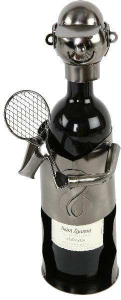 Badminton Flaschenhalter Tennis Skulptur - Weinflaschenhalter Tennisspieler mit Schläger