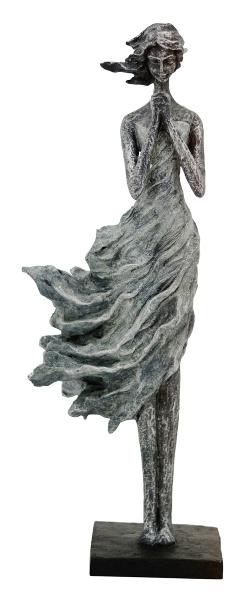 FrauenSkulptur Hilda - betende Frau - Dame vom Winde verweht - moderne Plastik