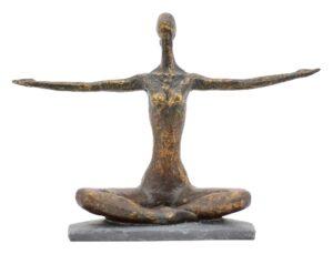 Frauen Skulptur Hilda - Frau in Yoga Stellung mit gespreizte Armen
