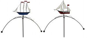 Windspiel Schiff Segelschiff Dreimaster - Metall Garten Balancer, martime Gartenwippe