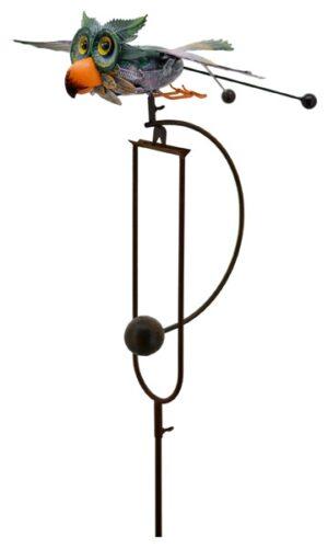 Windspiel Eule Metallwippe Gartenpendel