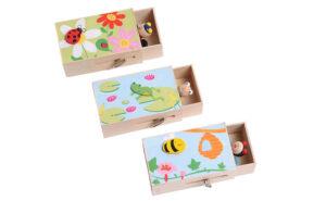 Musikkästchen Spieluhr mit Frosch, Marienkäfer oder Biene