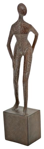Frauen Skulptur Hilda - moderne Plastik - Mensch auf Sockel - Polyresin