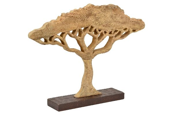 XL Baum Skulptur Artisanal - große Deko Savennenbaum aus Holz, 65 cm