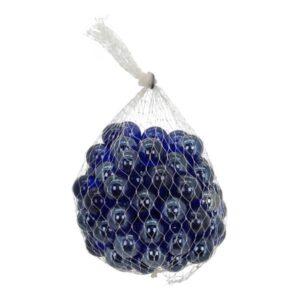 blaue Glaskugel Vitreous, ca. 100 Stück Murmeln im Netz, blautöne Glasmurmeln, gemischter Murmelbeutel Durchmesser ca. 11-116 mm
